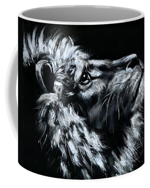 Lion Coffee Mug featuring the photograph Tell Me When the Wait is OVER by Artist RiA