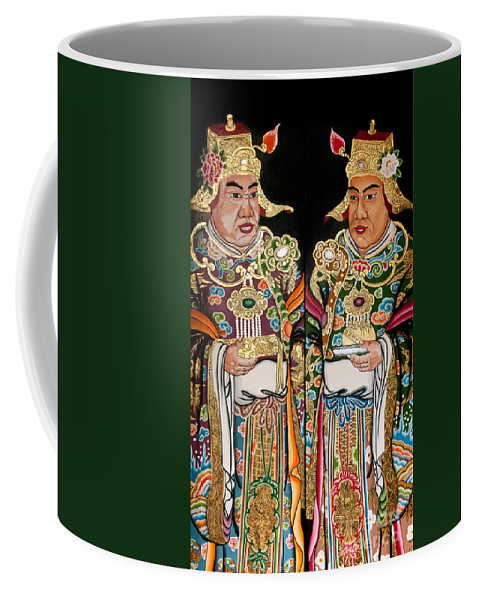 Bright Coffee Mug featuring the photograph Temple Doors 01 by Rick Piper Photography