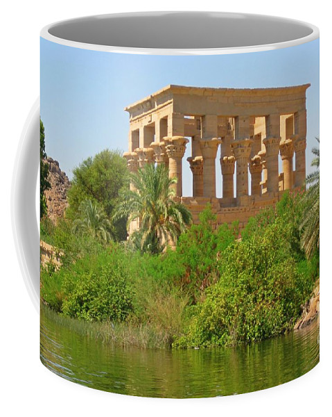 Temple Of Isis Coffee Mug featuring the photograph Temple Of Isis Among The Trees by John Malone
