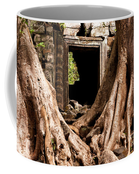 Ruined Coffee Mug featuring the photograph Temple Ruins 01 by Rick Piper Photography