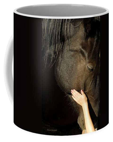 Horse Coffee Mug featuring the photograph Tenderness by Donna Blackhall