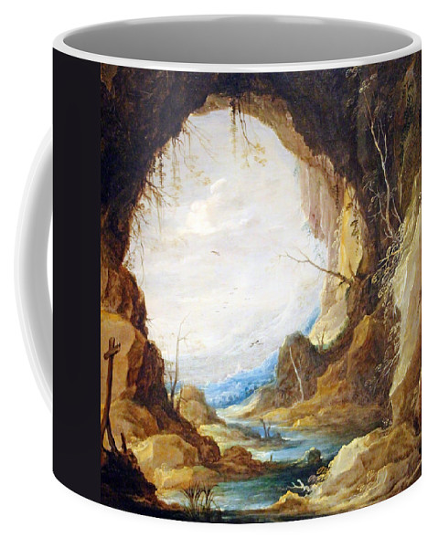 Vista Coffee Mug featuring the photograph Teniers' Vista From A Grotto by Cora Wandel