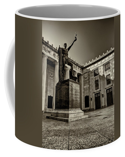 Tennessee Coffee Mug featuring the photograph Tennessee War Memorial Black And White by Joshua House