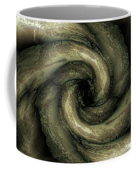 Green Coffee Mug featuring the digital art Tentacles by Steve Ball