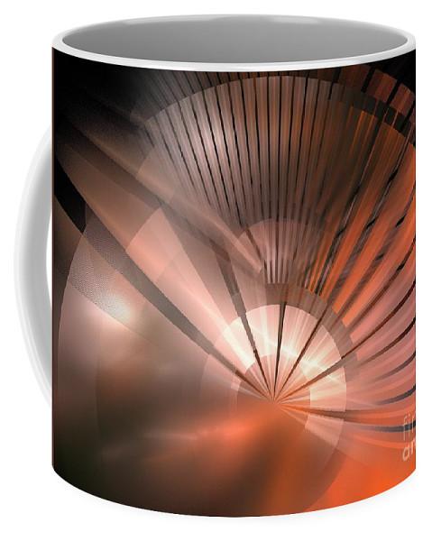 Apophysis Coffee Mug featuring the digital art Tessen by Kim Sy Ok