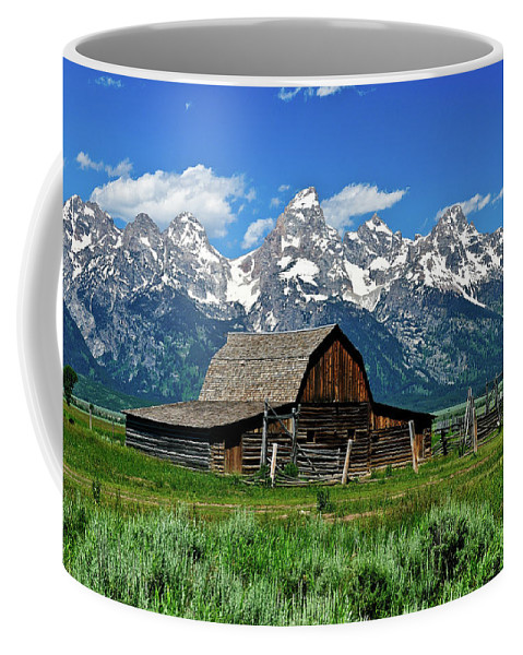 Grand Teton National Park Coffee Mug featuring the photograph Teton Barn by Greg Norrell