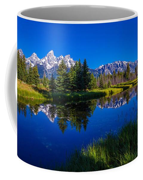 Teton Reflection Coffee Mug featuring the photograph Teton Reflection by Chad Dutson