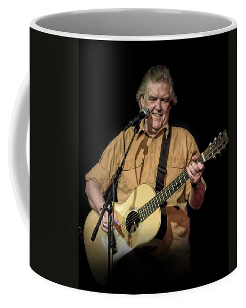 Art Coffee Mug featuring the photograph Texas Singer Songwriter Guy Clark In Concert by Randall Nyhof