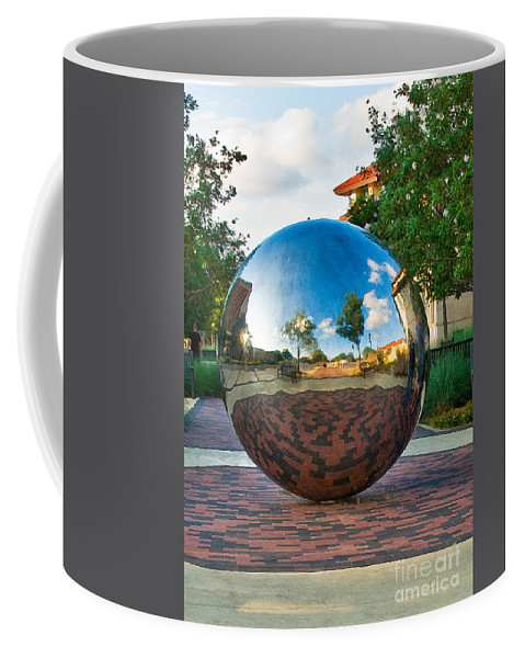 Texas Tech World Ball Coffee Mug featuring the photograph Tech World by Mae Wertz