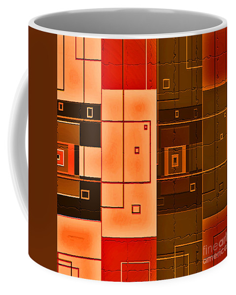 Abstract Coffee Mug featuring the digital art Textured Beauty by Candice Danielle Hughes