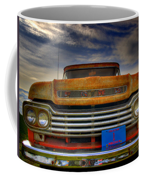 F-100 Ford Truck Coffee Mug featuring the photograph Textured Ford Truck 1 by Thomas Young