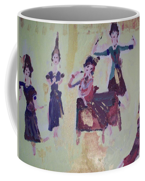 Dance Coffee Mug featuring the painting Thai Dance by Judith Desrosiers