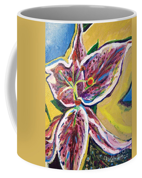 Lily Coffee Mug featuring the painting Thank You Lily by Catherine Gruetzke-Blais