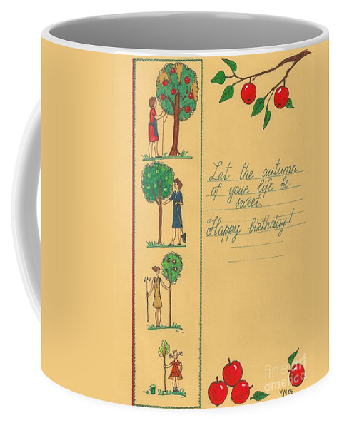Print Coffee Mug featuring the painting Thanks For Everything by Margaryta Yermolayeva