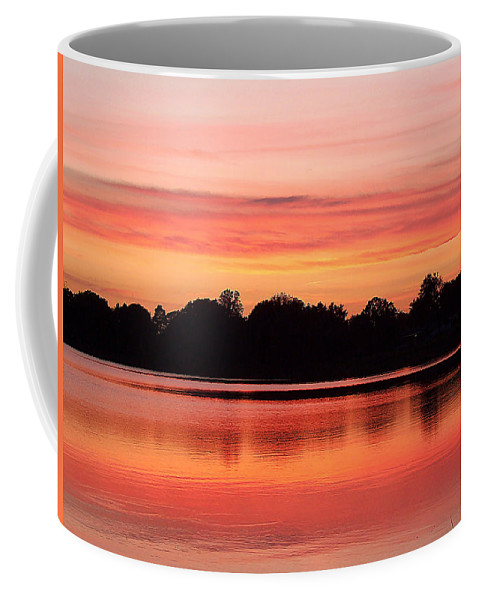 Fine Art Photograph Coffee Mug featuring the photograph Thanksgiving Evening 001 by Chris Mercer