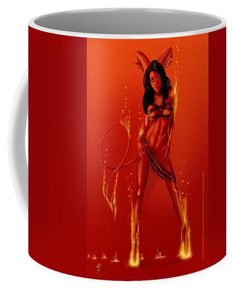 Coffee Mug featuring the digital art That Damn Thing by Doug Schramm