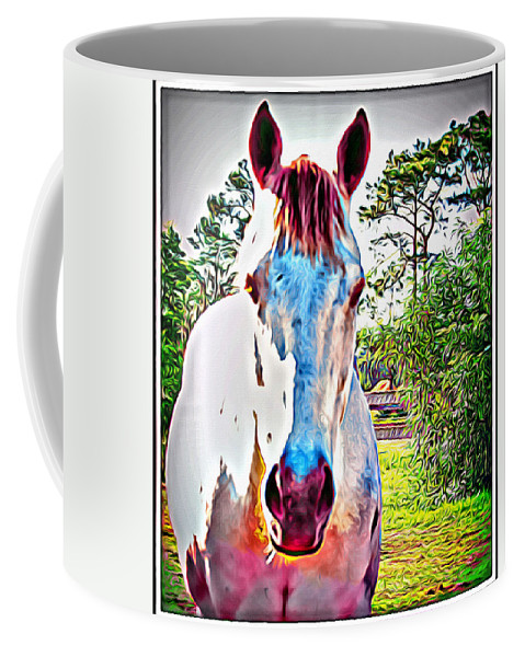 Horse Portrait Coffee Mug featuring the photograph That Horses Face by Alice Gipson
