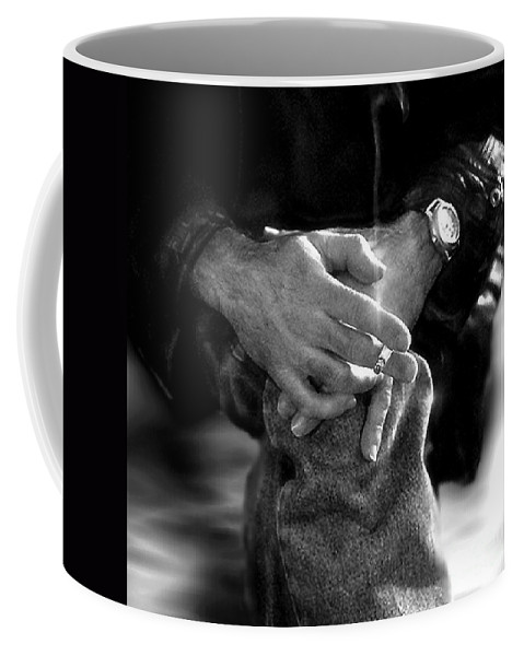 Black And White Coffee Mug featuring the photograph The Actor's Interview by RC DeWinter