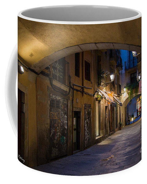 Alley Coffee Mug featuring the photograph The Alley- In Beautiful Barcelona by Rene Triay Photography