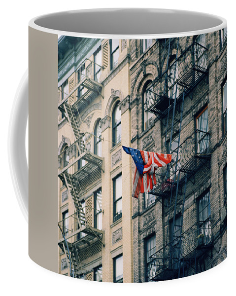 New York Coffee Mug featuring the photograph American Dream by Shaun Higson
