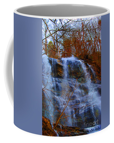 Nature Coffee Mug featuring the photograph The Amicalola Waterfall by Jost Houk