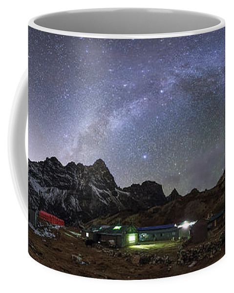 Horizontal Coffee Mug featuring the photograph The Arch Of The Milky Way Galaxy by Jeff Dai