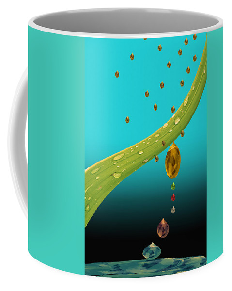Grass Coffee Mug featuring the photograph The Art Of Raining In California by Angela Stanton