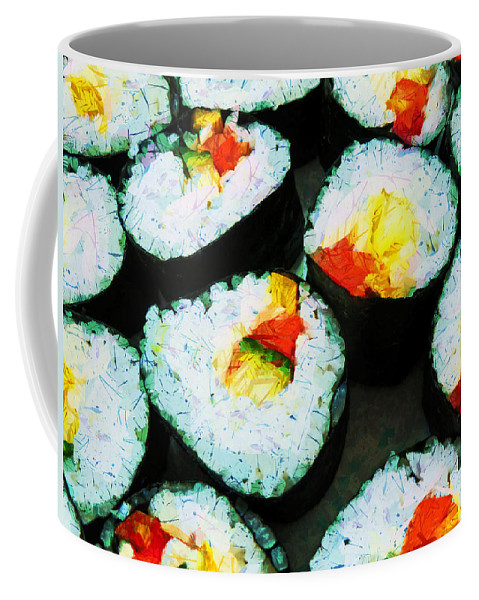 Sushi Coffee Mug featuring the photograph The Art Of Sushi by Steve Taylor