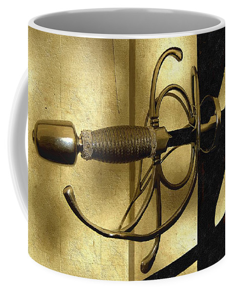 Sword Coffee Mug featuring the painting The Art Of The Sword by RC DeWinter
