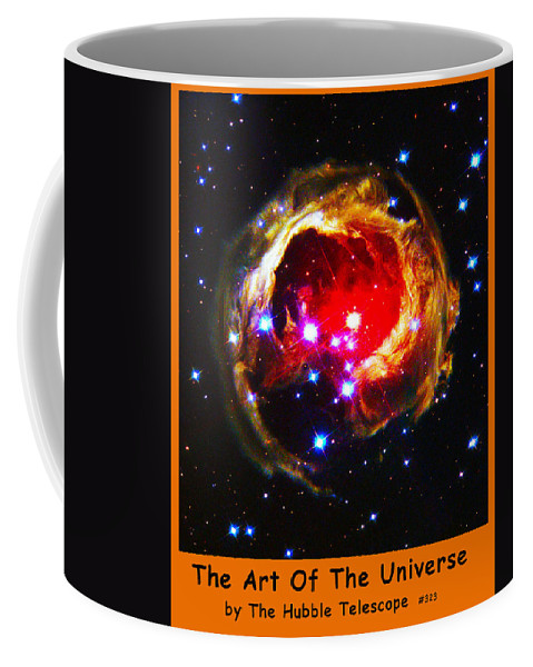 Outer Space Three Zero Six Coffee Mug featuring the digital art The Art Of The Universe 323 by The Hubble Telescope
