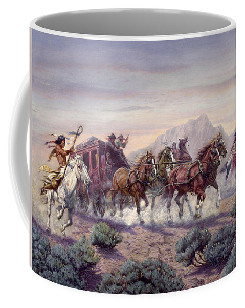 Gregory Perillo Coffee Mug featuring the painting The Attack by Gregory Perillo