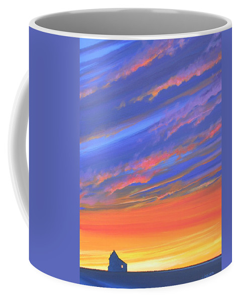 Sunset Coffee Mug featuring the painting The Aunt's House by Hunter Jay