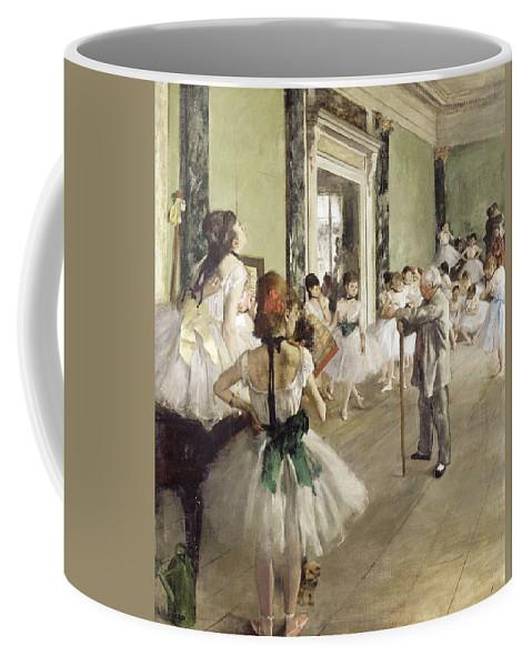 Edgar Degas Coffee Mug featuring the painting The Ballet Class by Edgar Degas
