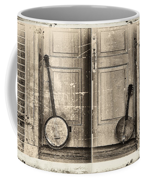 Banjo Coffee Mug featuring the photograph The Banjo Story by Bill Cannon