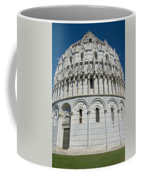 Baptisterium Coffee Mug featuring the photograph The Baptistery In Pisa by Jaroslav Frank