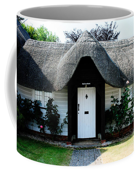 Nether Wallop Coffee Mug featuring the photograph The Barn House Door Nether Wallop by Terri Waters