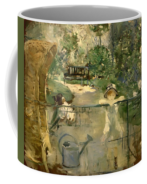Painting Coffee Mug featuring the painting The Basket Chair by Mountain Dreams