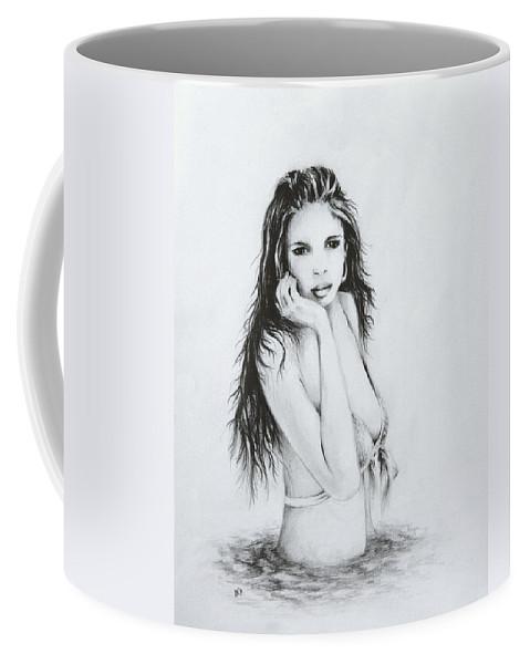 Figure Coffee Mug featuring the drawing the Bather by Rachel Christine Nowicki
