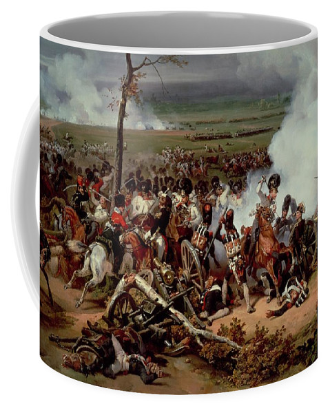 30-31 October 1813; Napoleon Coffee Mug featuring the painting The Battle Of Hanau by Emile Jean Horace Vernet