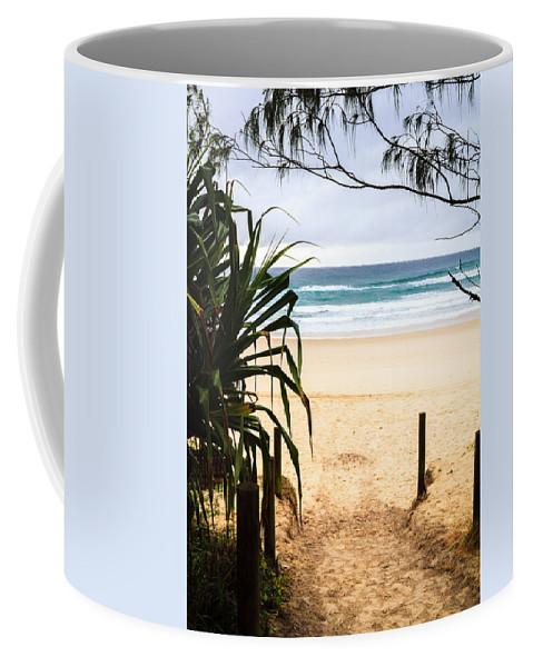 Beach Coffee Mug featuring the photograph The Beach At Salt by Silken Photography
