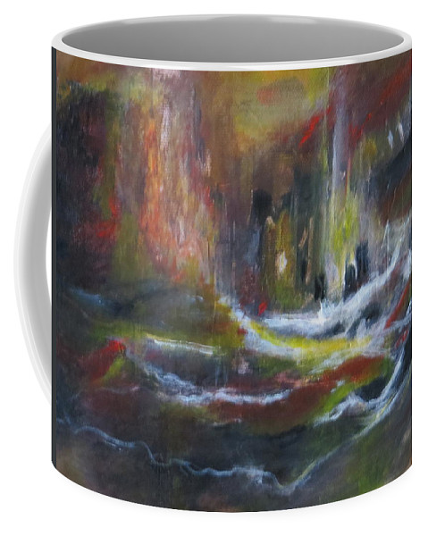 Abstract Coffee Mug featuring the painting The Beacon by Soraya Silvestri
