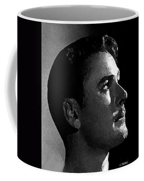 Errol Flynn Coffee Mug featuring the painting the Beautiful Man by George Pedro