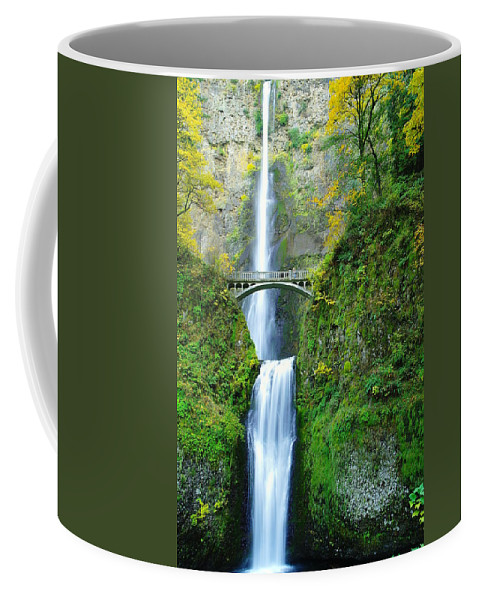 Waterfalls Coffee Mug featuring the photograph The Beauty Of Multnomah Falls by Jeff Swan
