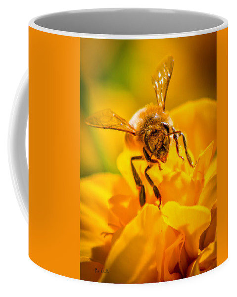 Bees Coffee Mug featuring the photograph The Bee Gets Its Pollen by Bob Orsillo