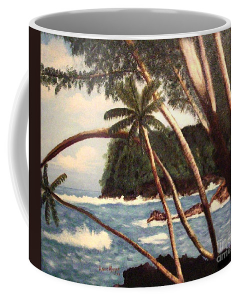 Hawaii Coffee Mug featuring the painting The Big Island by Laurie Morgan