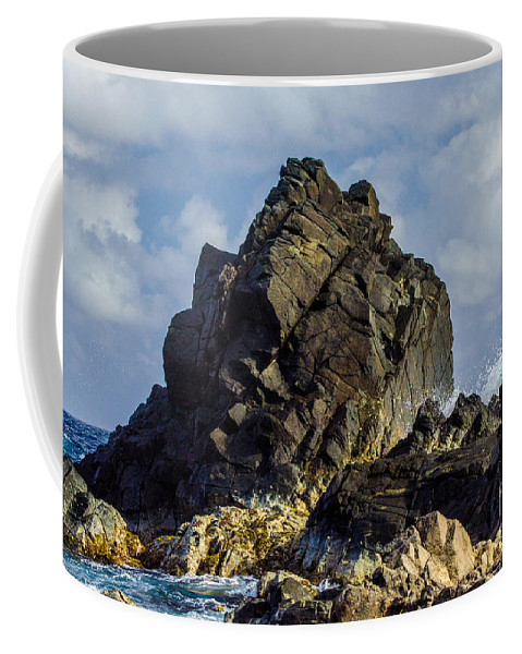 Rock Coffee Mug featuring the photograph The Big Rock by Judy Wolinsky