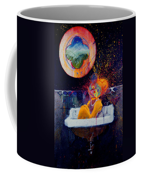 Bear Coffee Mug featuring the painting The Big Wash by Charles Stuart