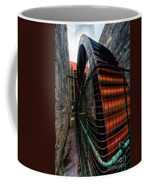 British Coffee Mug featuring the photograph The Big Wheel by Adrian Evans
