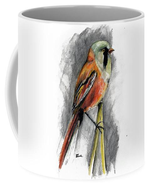 Bird Coffee Mug featuring the painting The Bird by Angel Ciesniarska
