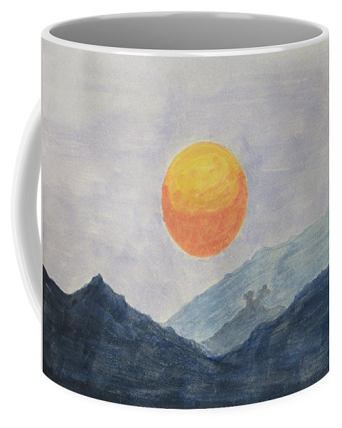 New Day Coffee Mug featuring the painting The Birth by Sonali Gangane
